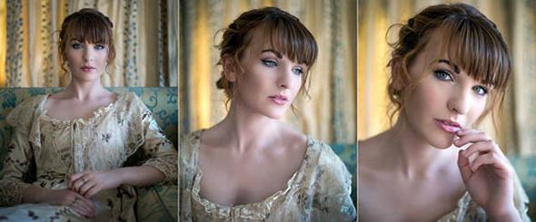 A luz dessa imagem vem de uma janela à esquerda da modelo. Modelo: Ali Clarke - © Harry Guiness
