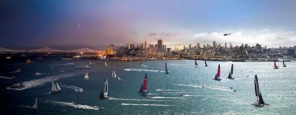 America's Cup San Francisco Low A Passagem do Tempo Capturada em uma Única Foto