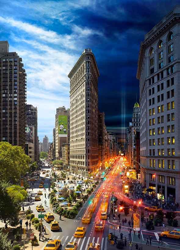 Flatiron Building NYC Low A Passagem do Tempo Capturada em uma Única Foto