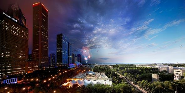 Millenium Park Chicago Low A Passagem do Tempo Capturada em uma Única Foto