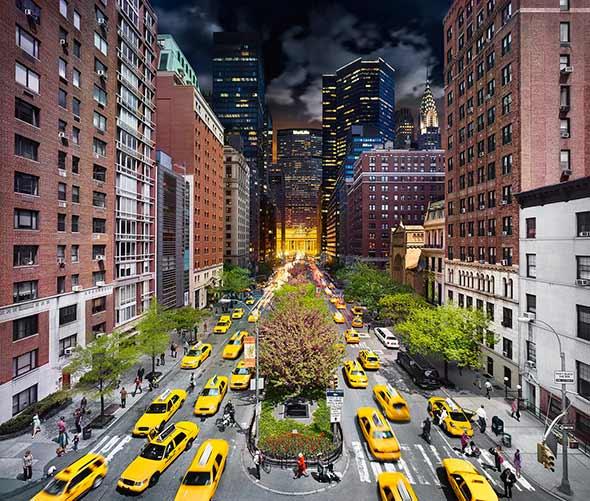 Park Avenue NYC Low A Passagem do Tempo Capturada em uma Única Foto