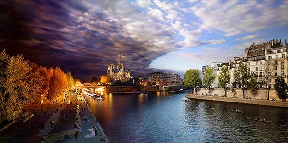 Pont de La Tournelle Paris Low A Passagem do Tempo Capturada em uma Única Foto