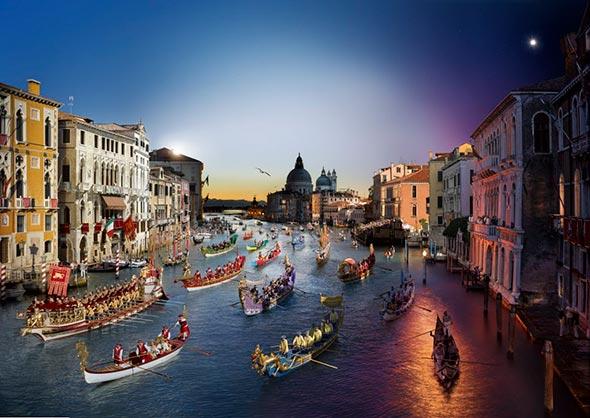 Regata Storica Veneza Low A Passagem do Tempo Capturada em uma Única Foto