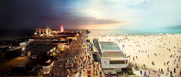 Santa Monica Pier CA Low A Passagem do Tempo Capturada em uma Única Foto