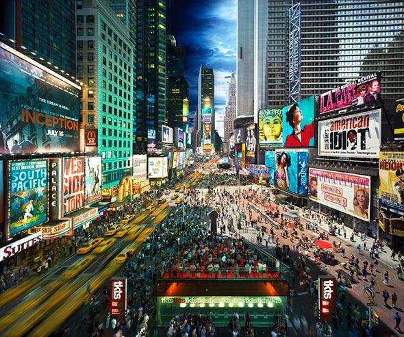 Times Square NYC2010 Low A Passagem do Tempo Capturada em uma Única Foto