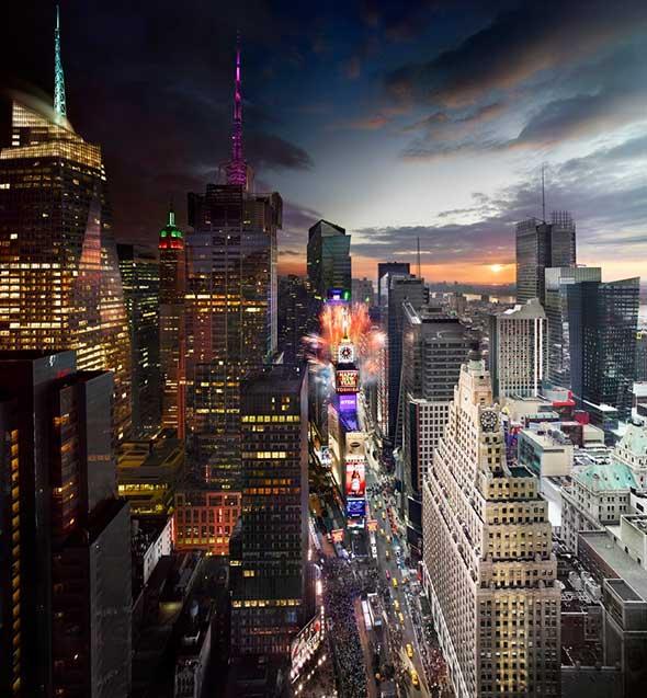 Times Square New Year NYC Low A Passagem do Tempo Capturada em uma Única Foto
