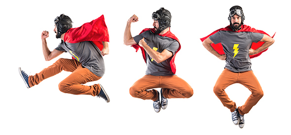 Homem de super herói 48 Maneiras de Fazer as Pessoas Sorrirem Para Uma Foto