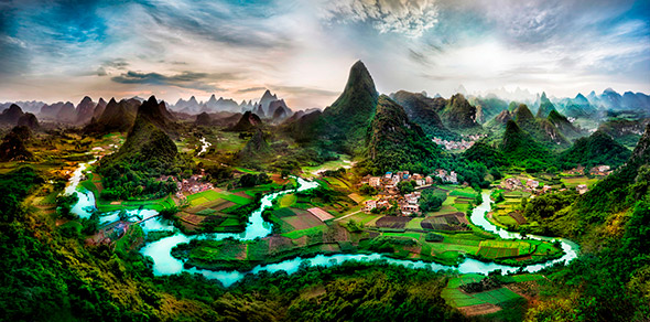 Deep in the Guangxi Province of China X2 Tutorial Para Fotografia  HDR