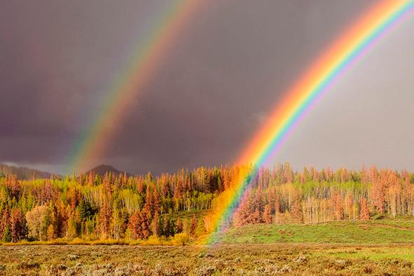 Rainbow Touching Ground 960x639 Como fotografar um Arco Íris